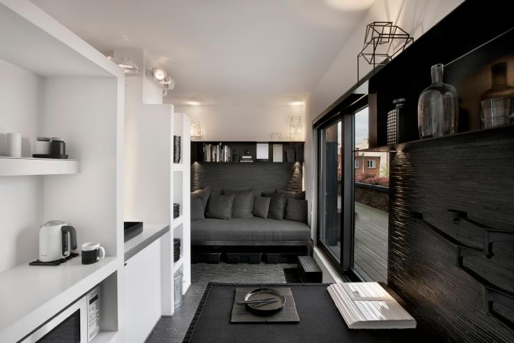 Mini-loft Black & White - Coin salon