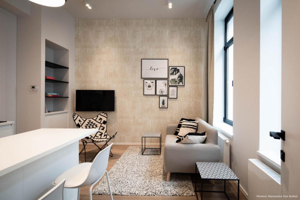 Brussels Gypset Studio RDC - Living area